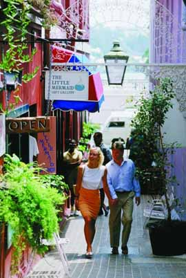 Couple Walking Bermuda Alley