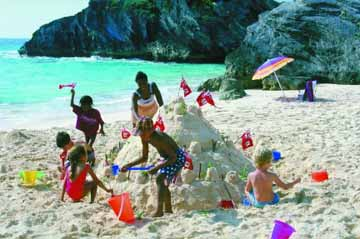 Children on Bermuda Beach