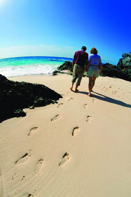 Couple on Bermuda Beach